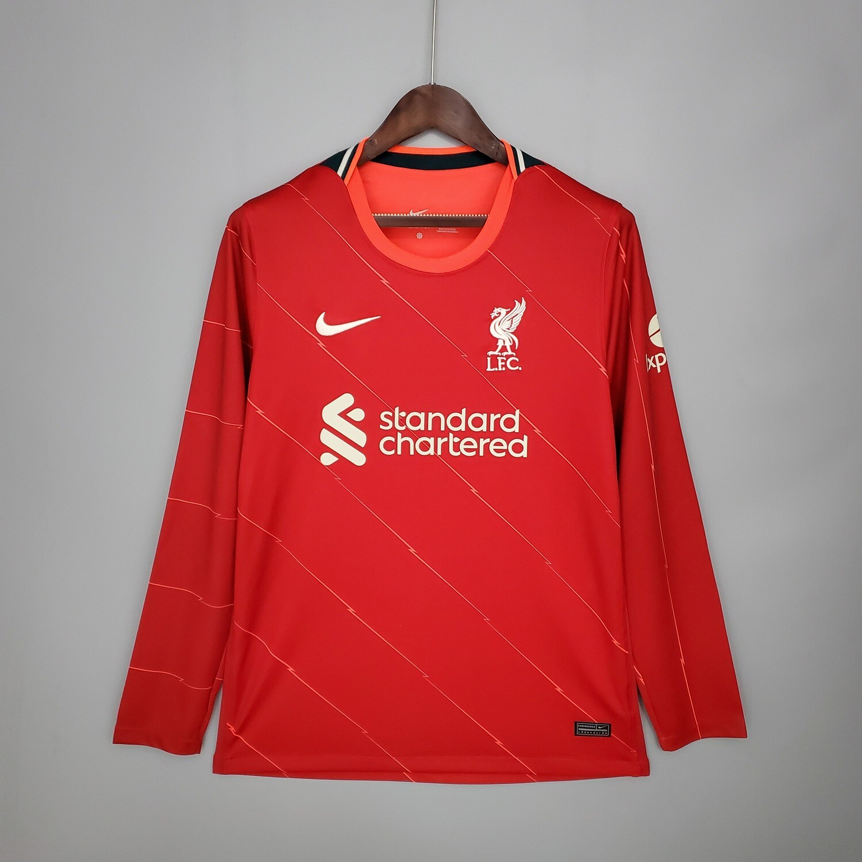 Camisa  Liverpool  2021-2022 Adidas Home Manga Longa