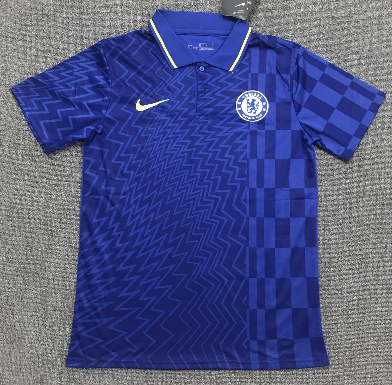 Camisa Polo Azul Chelsea 2021