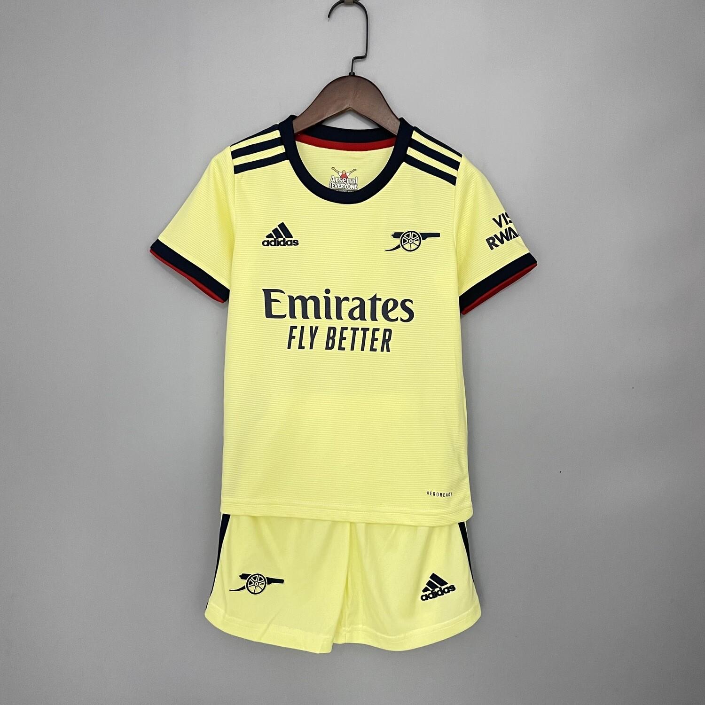 kit Camisa  Infantil Arsenal 2021/2022 away