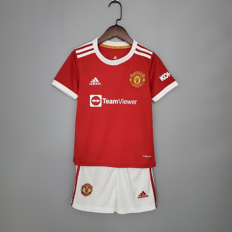 Camisa Infantil Manchester United 2021/2022 Home