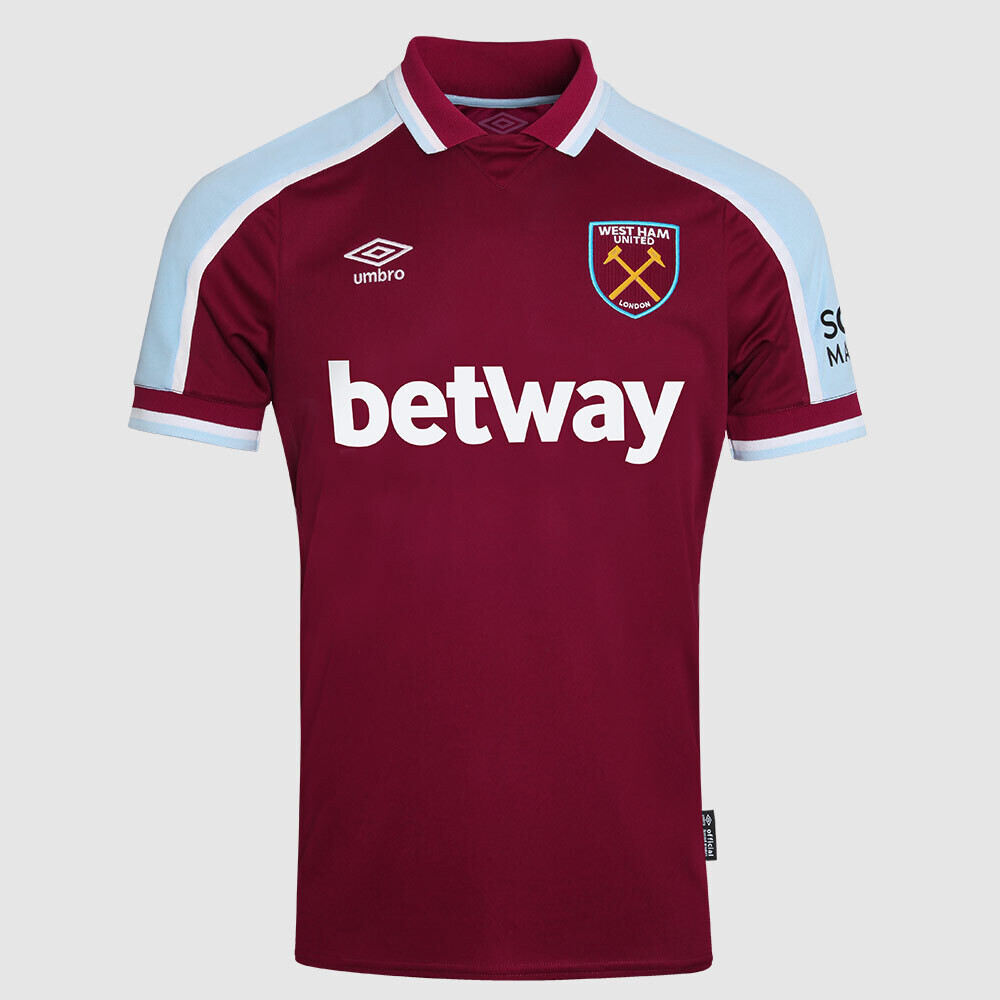 Camisa West Ham Home 2021/2022 Torcedor