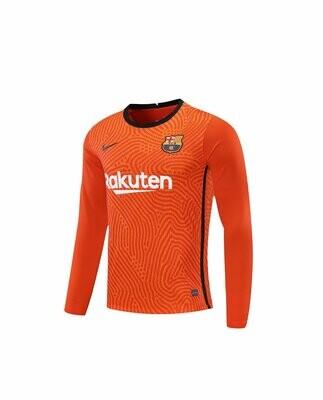 Camisa Barcelona Nike Goleiro  - Masculina Manga Longa 2020/2021 Laranja