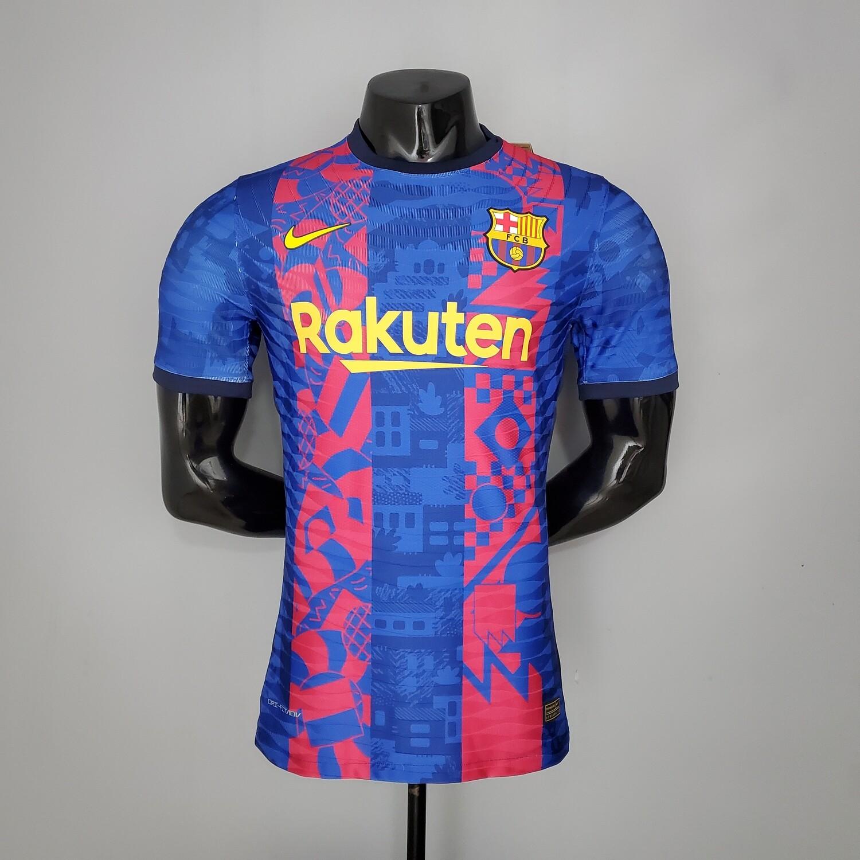 Camisa  Barcelona  2021-2022 Nike Jogador Terceira camisa