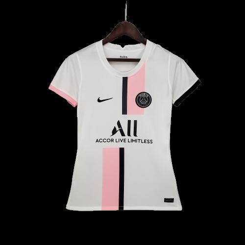 Camisa Jordan  PSG II 2021/2022 Torcedora Pro Feminina Rosa