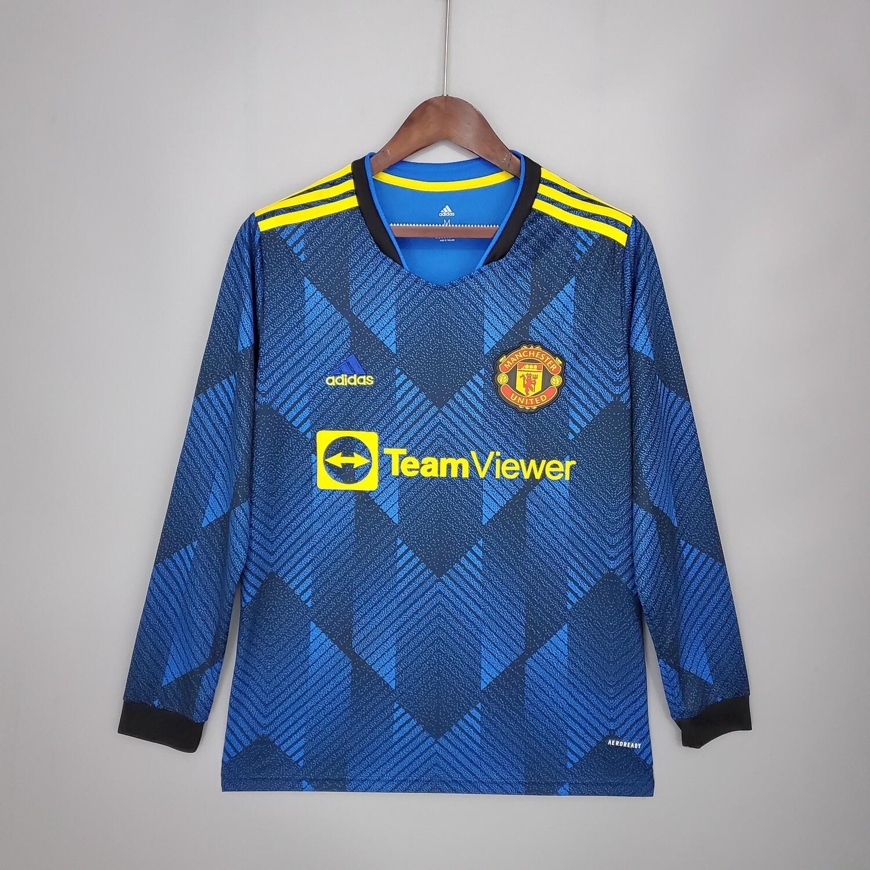 Camisa  Manchester United  2021-2022 Adidas away Manga Longa