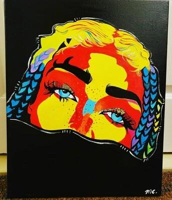 Half Faced Braids original painting