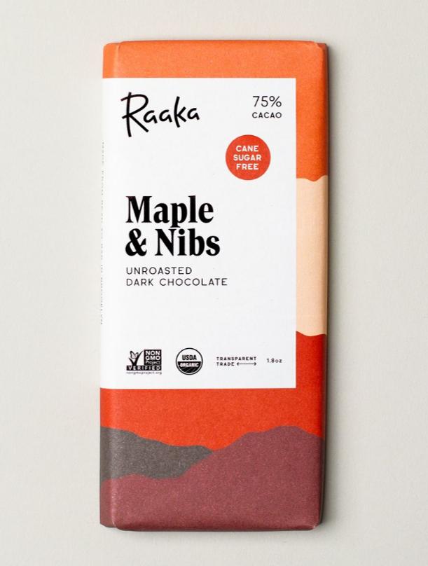 Raaka - Maple and Nibs 75%
