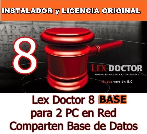 Lex Doctor 8 BASE para 2 PC en Red Comparten Datos en RED para Abogados Estudios juridicos  CHAVEZ Computacion