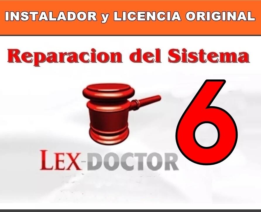Reparacion Solucion de Problemas del Lex Doctor 6 para Abogados Estudios Juridicos CHAVEZ Computacion