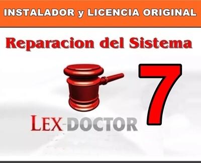 Reparacion Solucion de Problemas del Lex Doctor 7 para Abogados Estudios Juridicos CHAVEZ Computacion