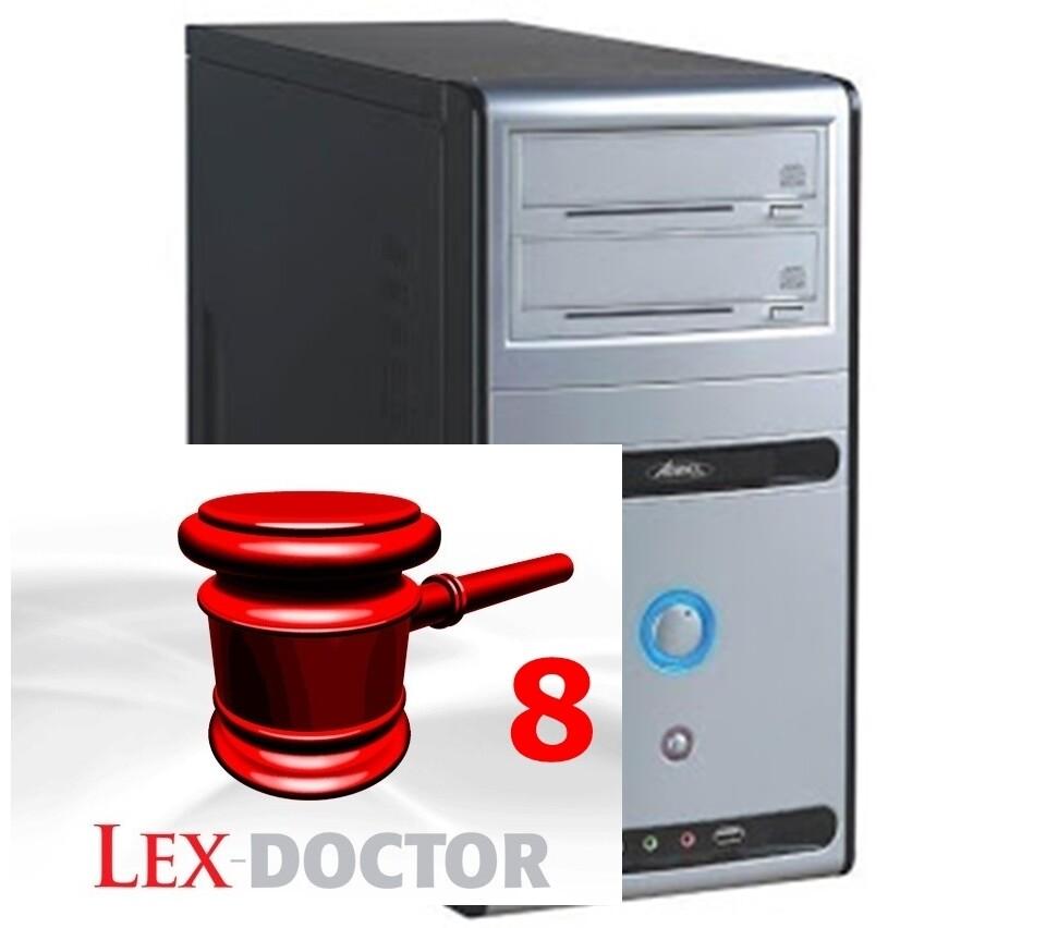 CPU Computadoras para Abogados Estudios juridicos con Lex Doctor 8 FULL CHAVEZ COMPUTACION