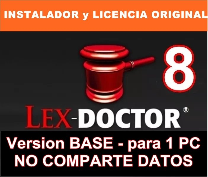 Lex Doctor 8 Version BASE para 1 PC CLIENTE para Abogados Estudios Juridicos CHAVEZ Computacion