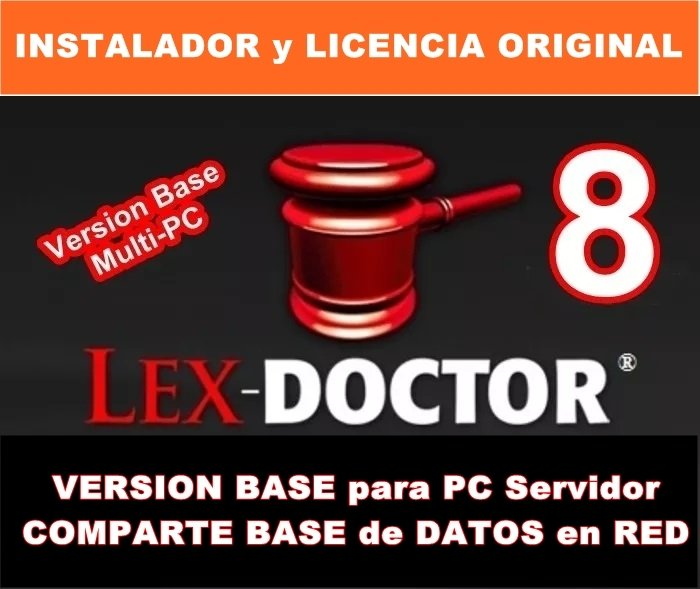 Lex Doctor 8 Version BASE para PC SERVIDOR COMPARTIR DATOS en RED para Abogados Estudios Juridicos CHAVEZ Computacion
