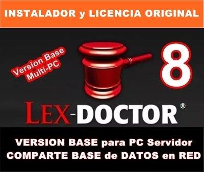 Lex Doctor 8 Version BASE para PC SERVIDOR COMPARTIR DATOS en RED para Abogados Estudios Juridicos CHAVEZ Computacion