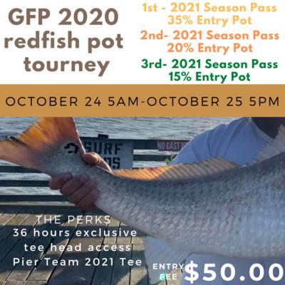 GFP 2020 Redfish Pot Tourney Entry