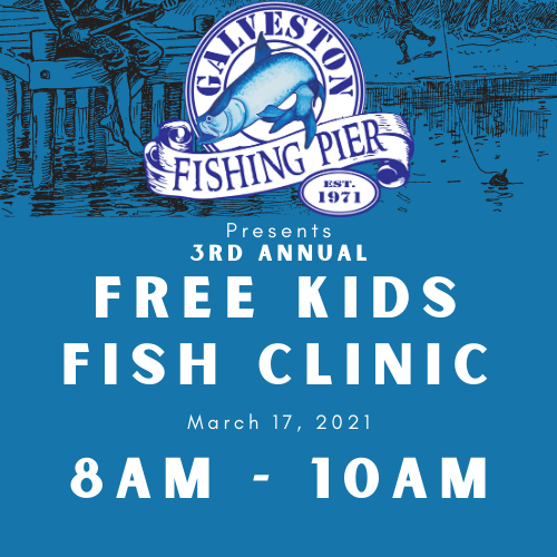 Kids Free Fish Clinic + Kids Pier Pass (Ages 6-10) 8a-10a