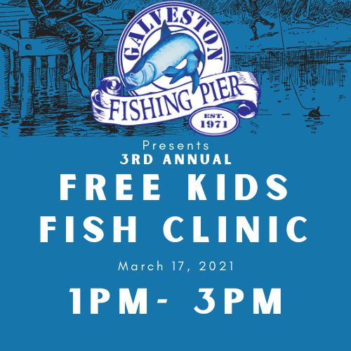 Kids Free Fish Clinic + Kids Pier Pass (Ages 6-10) 1pm - 3pm
