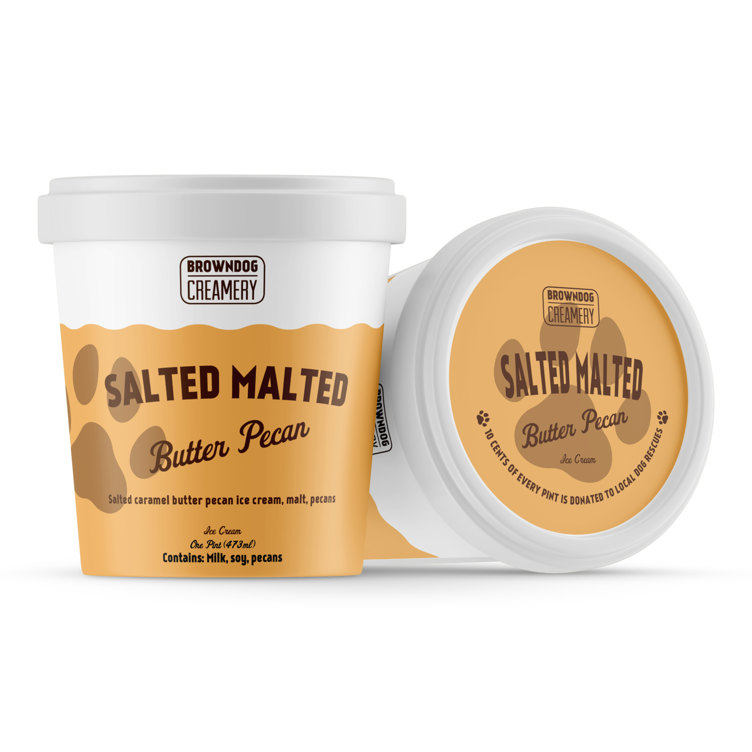 Salted Malted Butter Pecan Ice Cream