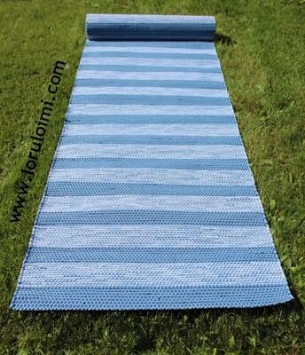 Tasaraita-räsymatto, sininen