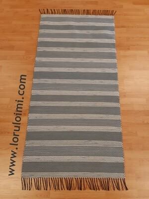 Polku - harmaaraitainen matto