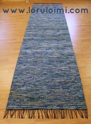Riemunkirjava farkunsininen matto