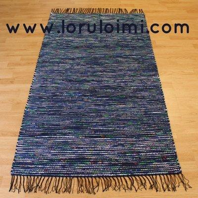 Riemunkirjava tummansininen matto