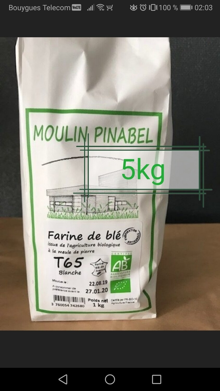 Farine T65 bio - 5kg