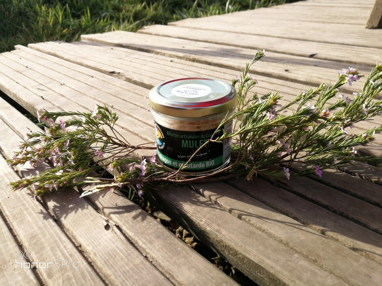 Rillettes de mulet à l'estragon et à la moutarde bio - pêche locale
