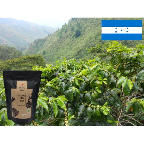 Café moulu du Honduras, transformation locale, bio