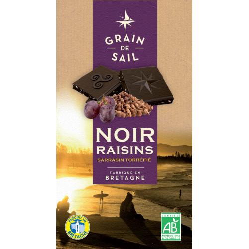 Chocolat noir au raisins & sarrasin bio