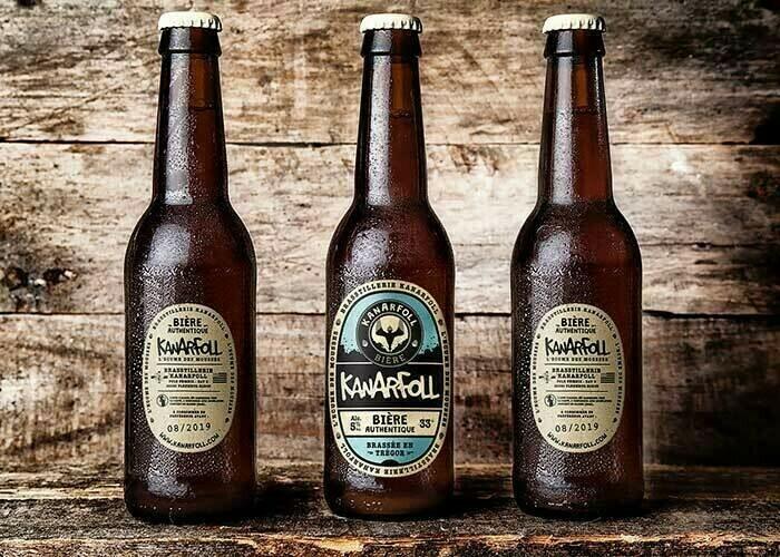Bière artisanale  Kanarfoll blanche 75cl