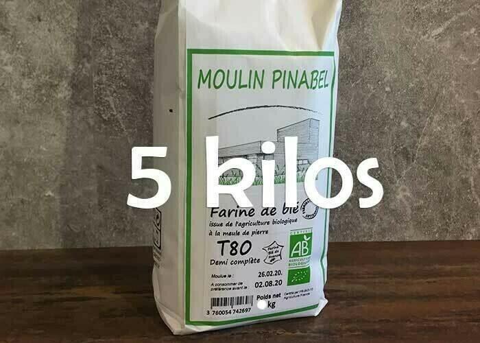 Farine T150 bio - 5kg