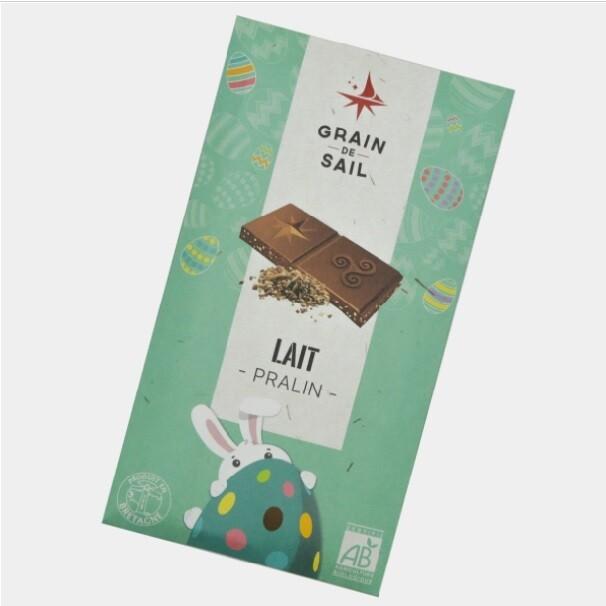 Tablette de chocolat au lait Pralin -bio
