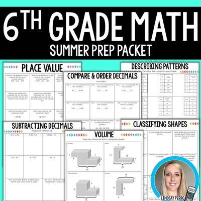 6th Grade Math Summer Prep Packet