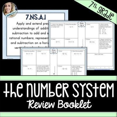 7th Grade Number System Review Booklet