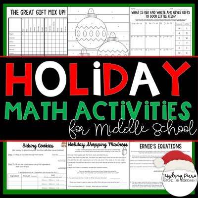 Christmas Math Activities for Middle School