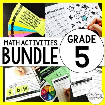 5th Grade Math Curriculum Resources Bundle