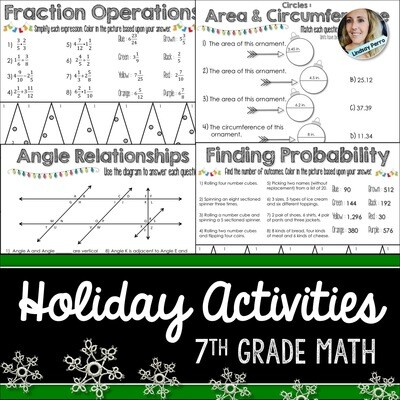 7th Grade Holiday Math Activities