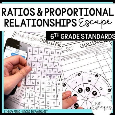 6th Grade Ratios and Proportional Reasoning Escape Room Activity