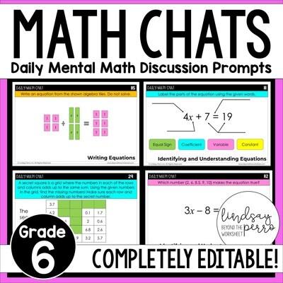 6th Grade Math Chats