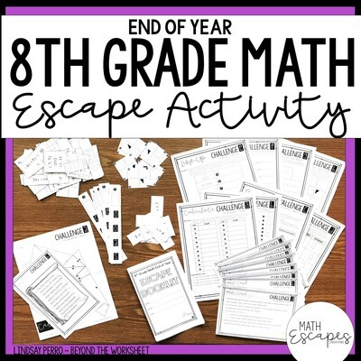 8th Grade Math End of Year Escape Room Activity