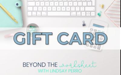 Beyond the Worksheet Gift Card