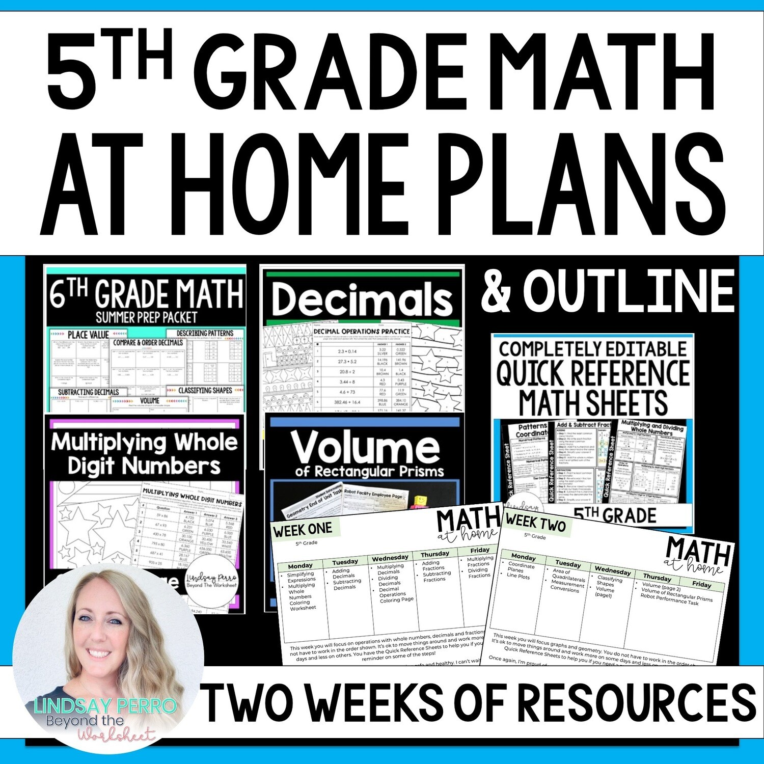 5th Grade Math Home Learning Packet