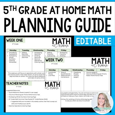 5th Grade Math Home Learning Template