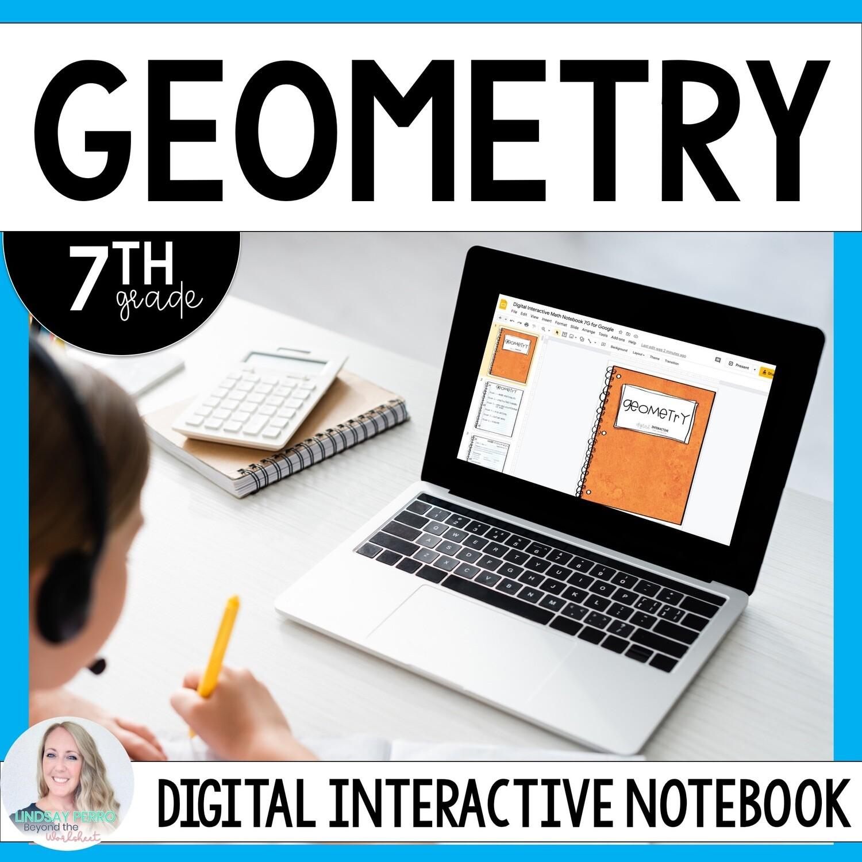 Geometry Digital Interactive Notebook - 7th Grade