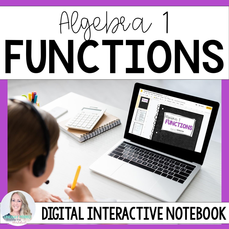 Functions Digital Interactive Notebook for Algebra 1