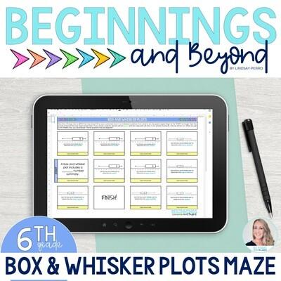 Box and Whisker Plots Digital Maze