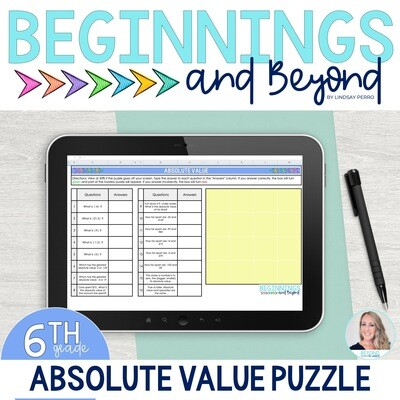 Absolute Value Digital Puzzle