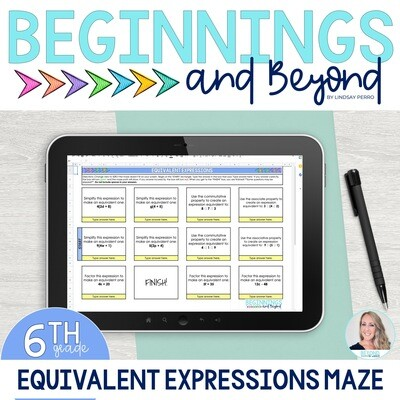 Equivalent Expressions Digital Maze