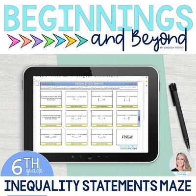 Statements of Inequalities Digital Maze